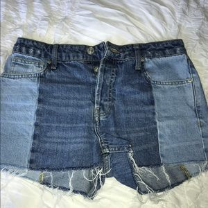 Urban Outfitters Two Toned Denim Shorts